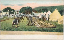 Soldiers in Camp, Army Military Tents - Pre-1907 Postcard