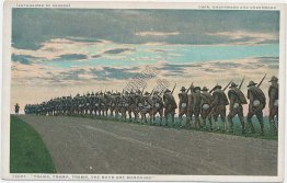 Soldiers Marching - Military Early 1900's Detroit Publishing Co. Postcard