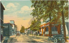 Fair St. Looking North, Kingston, NY - Early 1900's Postcard