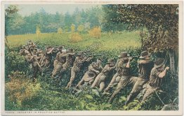 Soldiers, Infantry in Practice Battle - Military Detroit Publishing Co. Postcard
