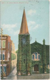 St. John's Church, Kingston, NY - Early 1900's Postcard