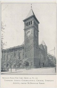 Tompkins Ave., McDonough St., Church, Brooklyn, NY New York Pre-1907 Postcard