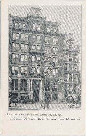 Phoenix Building, Court St., Montague, NY Pre-1907 Brooklyn Eagle Postcard