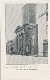 Old Tabernacle, Brooklyn, NY New York Brooklyn Eagles Series Pre-1907 Postcard