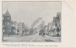 Residential Section, Arlington Ave., Brooklyn, NY Pre-1907 Postcard