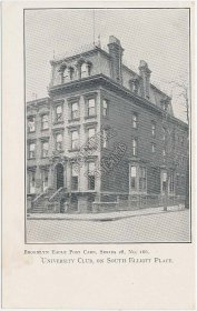 University Club, South Elliott Place, Brooklyn, NY Pre-1907 Postcard