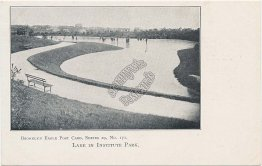 Lake in Institute Park, Brooklyn, NY - Brooklyn Eagle Pre-1907 Postcard