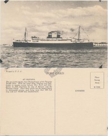 SS Pennsylvania Ship, Panama Pacific Line, Havana, CUBA - Early Postcard
