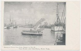 Basin & Cob Dock, Navy Yard, Brooklyn Eagles Series, NY Pre-1907 Postcard