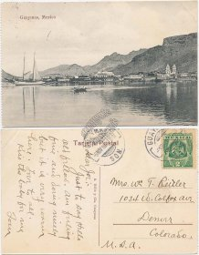 Panoramic View, Guaymas, Mexico 1909 Mexican Postcard