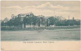 City Schools, Larimore, North Dakota ND Pre-1907 Postcard