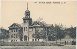 Public School, Mandan, ND North Dakota - Early 1900's Postcard