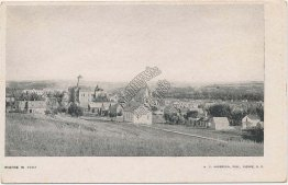Bird's Eye View, Pierre, South Dakota SD 1907 Postcard