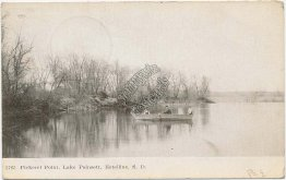 Pickerel Point, Lake Poinsett, Estelline, SD South Dakota 1907 Postcard