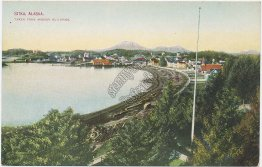 Bird's Eye View, Sitka, Alaska AK - Early 1900's Postcard