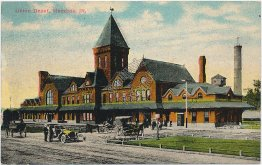 Union RR Depot, Mendota, IL Illinois - Early 1900's Postcard