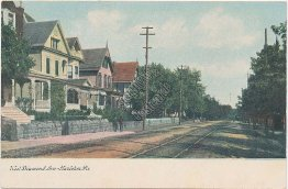 West Diamond Ave., Railroad, Hazelton, PA Pennsylvania - Early 1900's Postcard