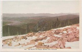 Rabbit Ear Range, Moffat Line RR, CO Colorado - Early 1900's Postcard