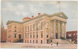 Court House, Belleville, IL Illinois - Early 1900's Postcard