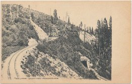 Railoard Loop, Siskiyou Mountains, CA California Pre-1907 Postcard