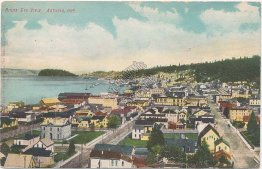 Bird's Eye View, Astoria, OR Oregon - Early 1900's Postcard