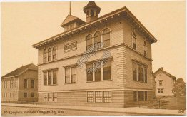 McLoughlin Institute, Oregon City, OR - Early 1900's Postcard