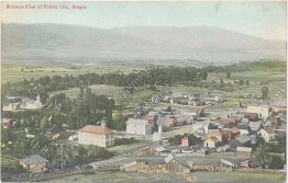 Bird's Eye View, Prairie City, Oregon OR - Early 1900's Postcard