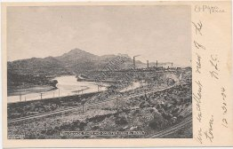 Rio Grande River and Smelter, El Paso, TX Texas Pre-1907 Postcard