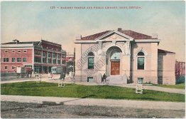 Masonic Temple and Public Library, Reno, NV Nevada - Early 1900's Postcard
