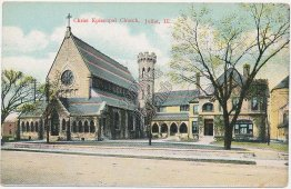 Christ Episcopal Church, Joliet, IL Illinois - Early 1900's Postcard