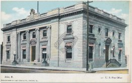 US Post Office, Joliet, IL Illinois - Early 1900's Postcard