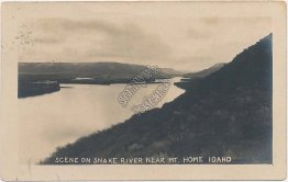Snake River, Mt. Mountain Home, Idaho ID - Early 1900's RP Photo Postcard