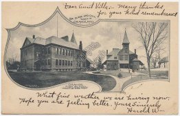 High School, Orange, MA Massachusetts 1905 Postcard