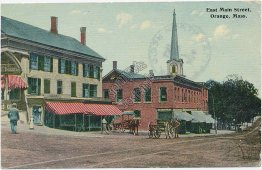 East Main St., Orange, MA Massachusetts 1912 Postcard
