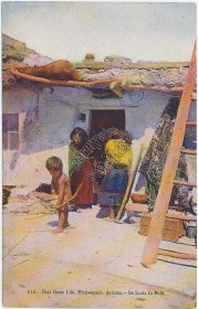 Hopi Indian Home Life, Mishongnovi, AZ Arizona Pre-1907 Postcard