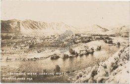 Bird's Eye View, Cashmere, WA Washington - Early 1900's Real Photo RP Postcard