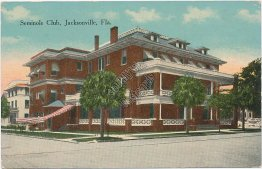 Seminole Club, Jacksonville, FL Florida - Early 1900's Postcard