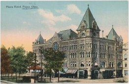 Plaza Hotel, Piqua, Ohio OH - Early 1900's Postcard