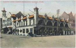 Davenport's Restaurant, Spokane, WA Washington - Early 1900's Postcard