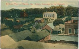 Bird's Eye View, Marion, Alabama AL - Early 1900's Postcard