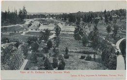 Bird's Eye View, Point Defiance Park, Tacoma, WA Washington Early 1900s Postcard
