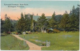 Episcopal Institute, Rock Point, Burlington, VT Vermont - Early 1900's Postcard