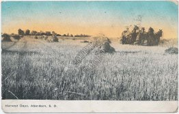 Harvest Days, Aberdeen, South Dakota SD 1912 Postcard