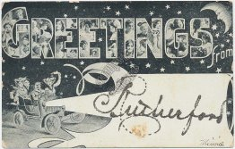 Greetings from Rutherford, NJ New Jersey Pre-1907 Postcard