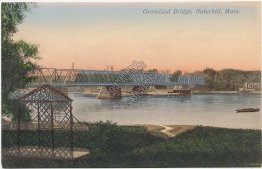 Groveland Bridge, Haverhill, MA Massachusetts - Early 1900's Postcard