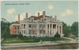 Wheeler Mansion, Orange, Massachusetts MA - Early 1900's Postcard