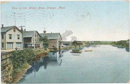 Millers River, Orange, MA Massachusetts Pre-1907 Postcard