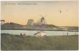Old Mill Point, West Harwichport, MA Massachusetts - Early 1900's Postcard