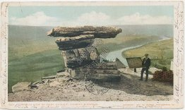 Umbrella Rock, Point Lookout, Lookout Mt., TN Tennessee 1905 Postcard