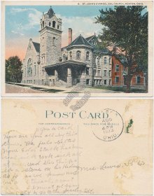 St. John's Evangelical Church, Kenton, OH Ohio - Early 1900's Postcard